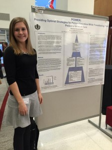 Kiersten Kronschnabel '15 (CLAS) presents her research at the St. Jude/PIDS conference in Memphis, TN.