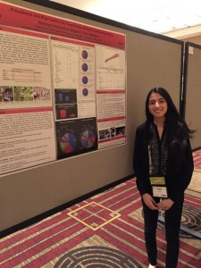 Saher Kazi '16 (CLAS) presents at the American Medical Student Association Annual Convention in Washington, DC.