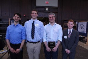 Ari Fischer, Oscar Nordness, Mentorship Excellence Award winner George Bollas, and Clarke Palmer.
