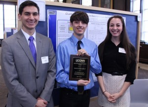 John Ovian, Mentorship Excellence Award winner Christopher Kelly, and Rebecca Wiles.