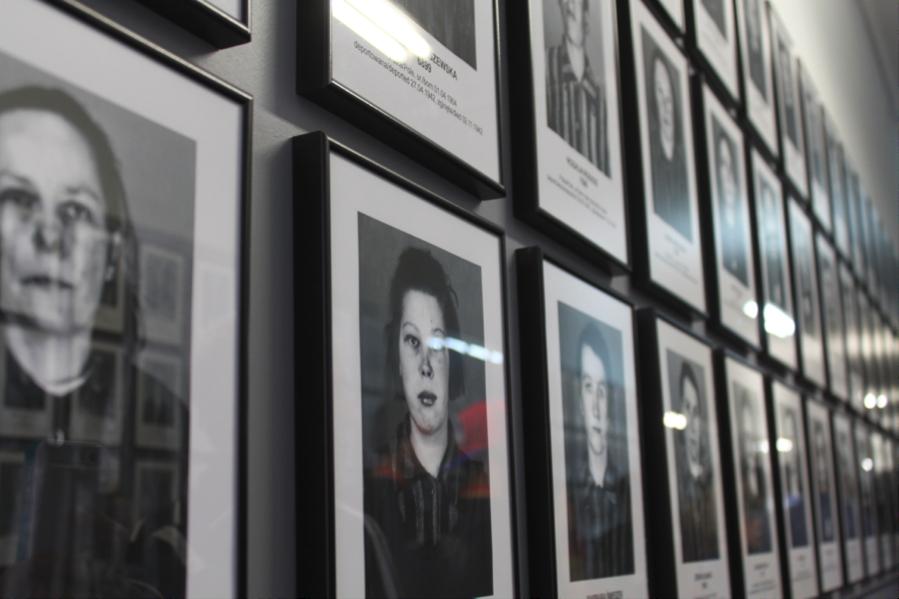 Faces before death, Auschwitz, 2014.