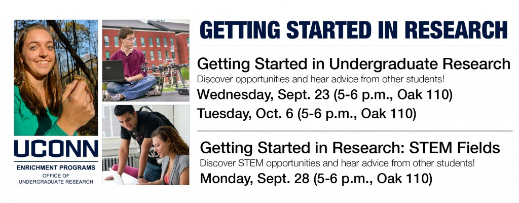 Getting Started Workshops Fall 2015