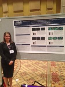 Emma LaVigne presenting research