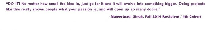 Maneetpaul Singh IDEA Application Quote