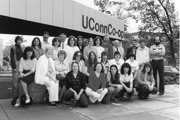 A 1983 photograph of the second UConn Co-op building