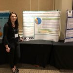 Kayla Hope presenting her research poster.