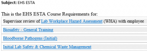 Image of ESTA Training Requirements