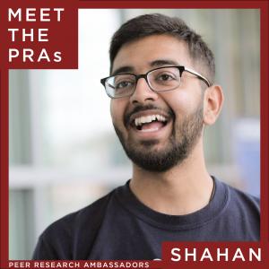 Meet the Peer Research Ambassadors: Shahan