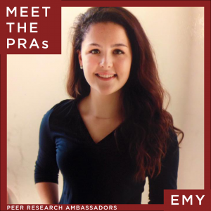 Meet the Peer Research Ambassadors: Emy