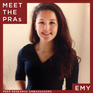 Meet the Peer Research Ambassadors: Emy