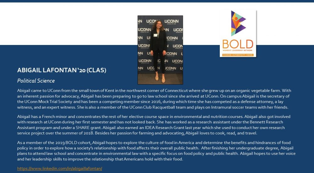 Profile of BOLD Scholar Abigail LaFontan