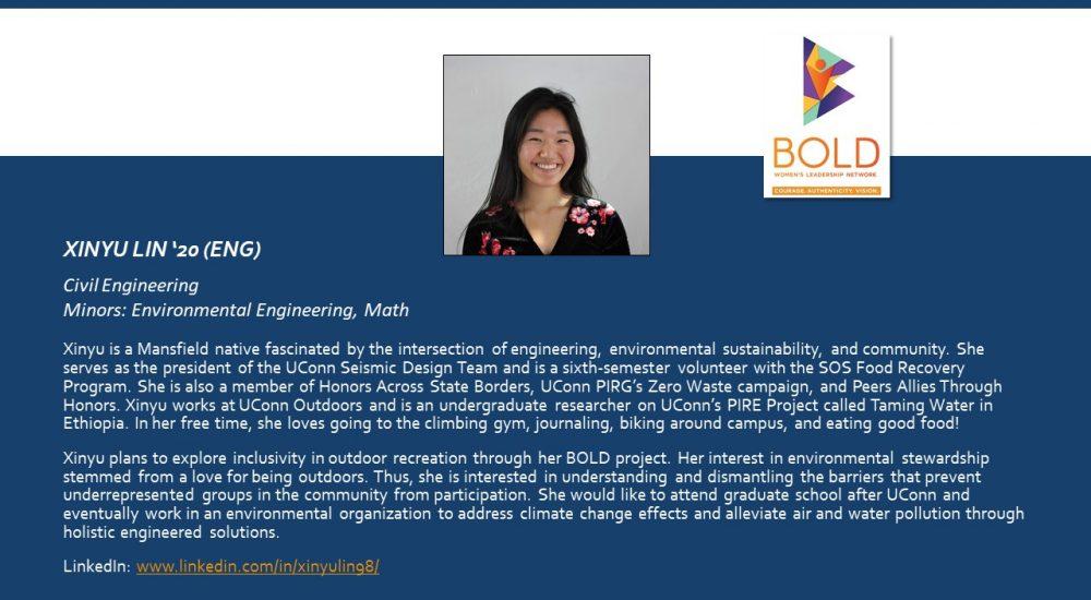 Profile of BOLD Scholar Xinyu Lin