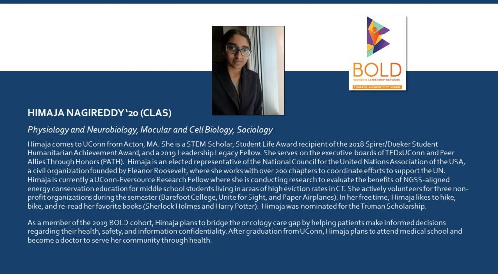 Profile of BOLD Scholar Himaja Nagireddy