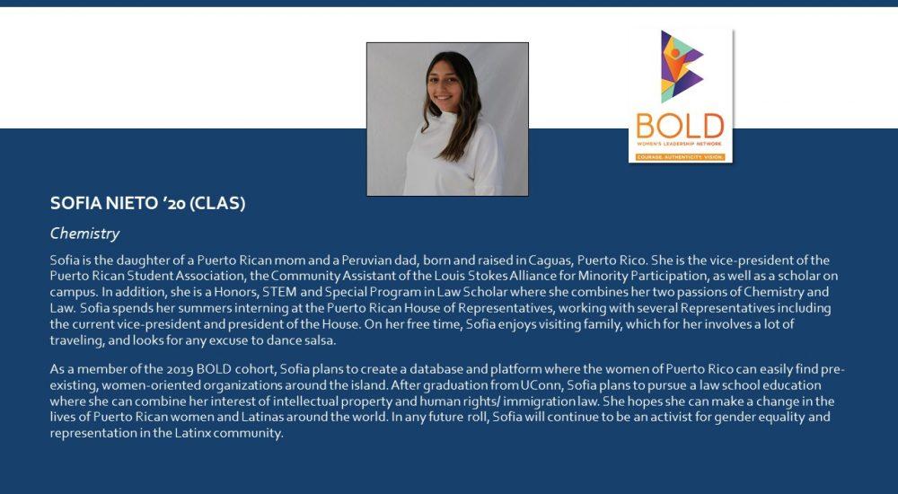 Profile of BOLD Scholar Sofia Nieto