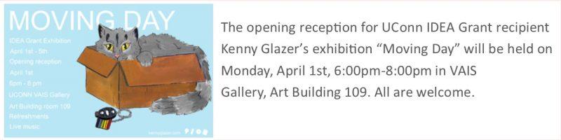 Kenny Glazer Opening Reception Flyer.