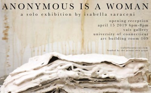 Anonymous Is A Woman Art Exhibition Flyer