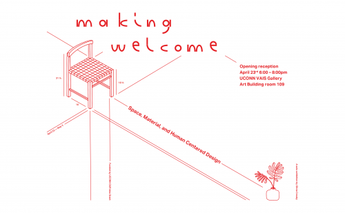Flyer for Making Welcome: Space, Material, and Human-Centered Design