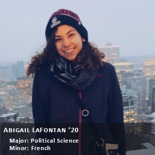 OUR Peer Research Ambassador Abigail LaFontan.