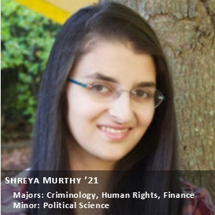 OUR Peer Research Ambassador Shreya Murthy.