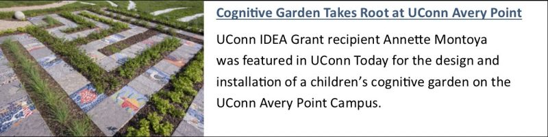 Cognitive Garden Takes Root at UConn Avery Point. Link to UConn Today article.