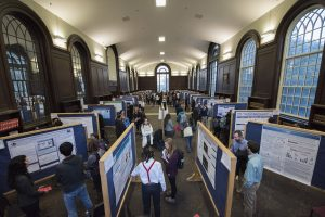 Students presenting at the 2016 Fall Frontiers Exhibition