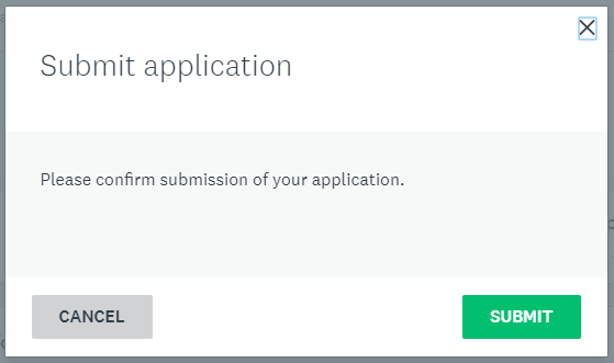 Submit screen.