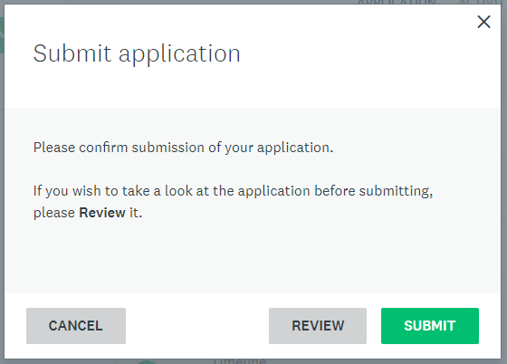 Submit screen with option to review.