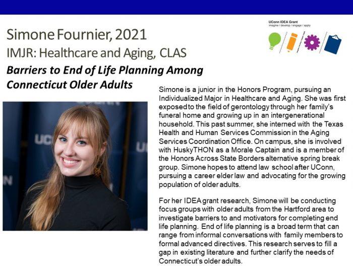IDEA Grant Recipient Simone Fournier Bio.