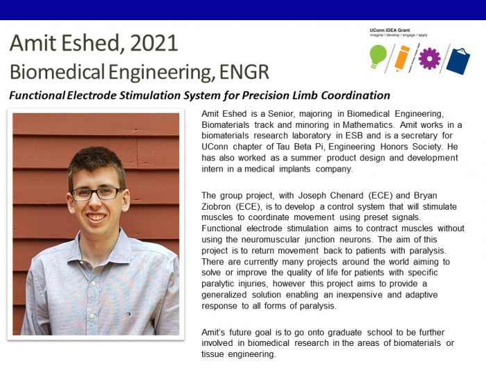 Amit Eshed '21 - IDEA Grant Bio.