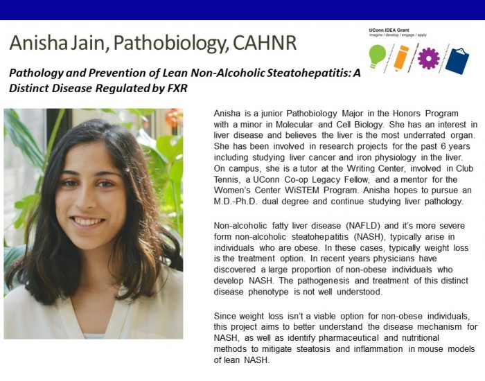Anisha Jain '22 - IDEA Grant Bio.