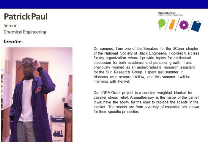 UConn IDEA Grant Recipient Patrick Paul Bio.