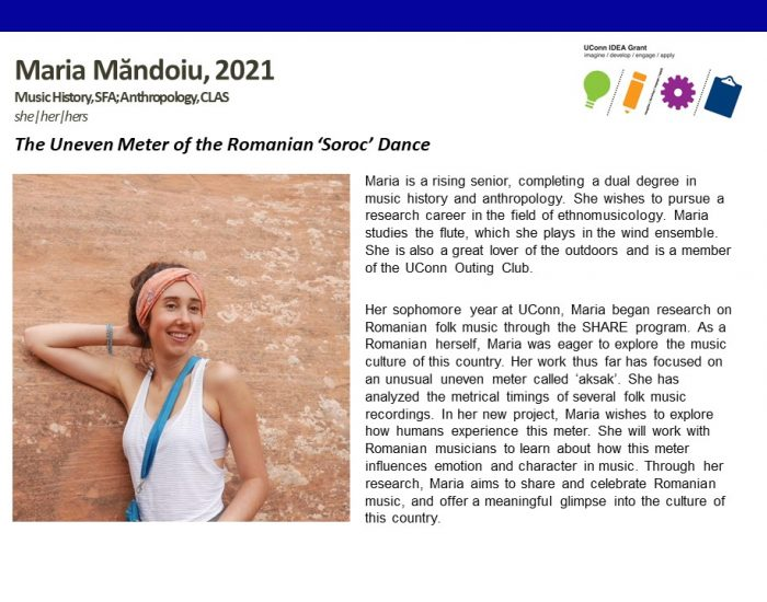 UConn IDEA Grant Recipient Maria Mandoiu Bio.