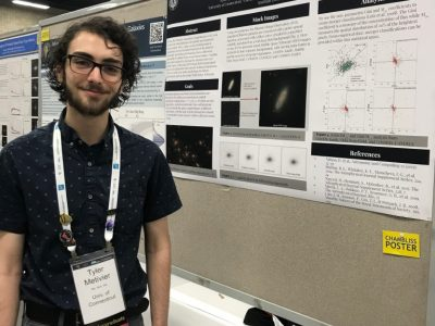 Tyler Metivier presenting at the American Astronomical Society Annual Meeting.