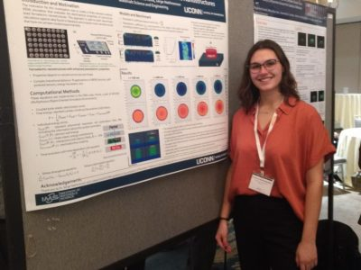 Victoria Reichelderfer presenting at the Electronic Materials and Applications Conference.