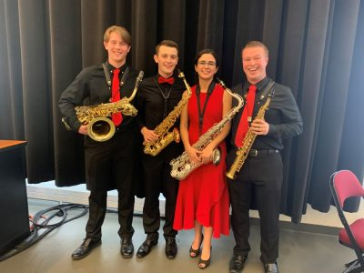 Paradigm Saxophone Quartet post performance