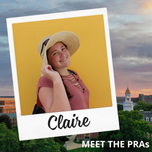 Meet the PRAs: Claire.