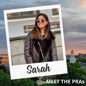 Meet the PRAs: Sarah.