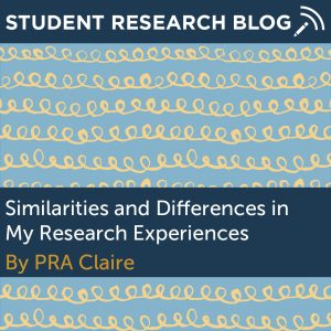 Similaries and Differences in My Research Experiences. By PRA Claire.
