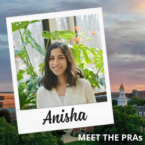 Meet the PRAs - Anisha.