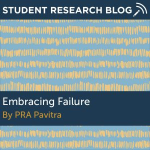 Embracing Failure. By PRA Pavitra.