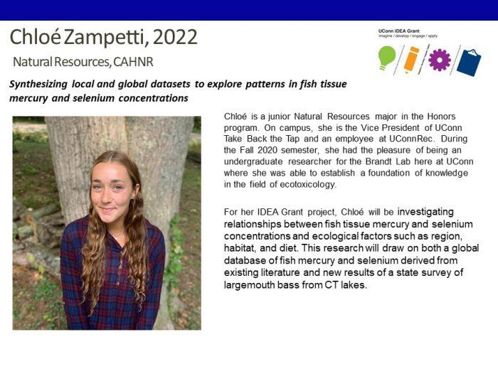 UConn IDEA Grant Recipient Chloe Zampetti.