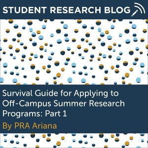Survival Guide for Applying to Off-Campus Summer Research Programs. By PRA Ariana.