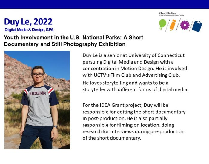 UConn IDEA Grant Recipient Duy Le.