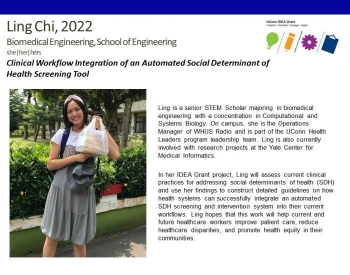 UConn IDEA Grant Recipient Ling Chi.