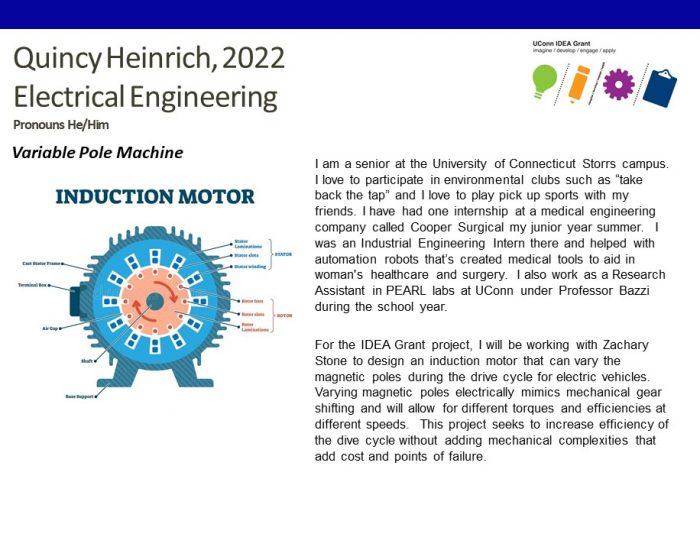 UConn IDEA Grant Recipient Quincy Heinrich Bio.
