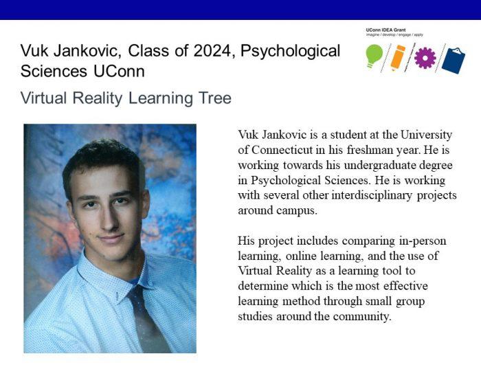 UConn IDEA Grant Recipient Vuk Jankovic Bio.