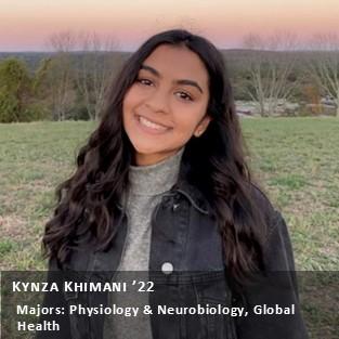 OUR Peer Research Ambassador Kynza Khimani '22.