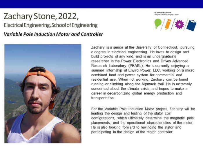 UConn IDEA Grant Recipient Zachary Stone Bio.
