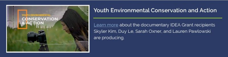 Youth Environmental Conservation and Action. Link to documentary film highlighted in UConn Today.
