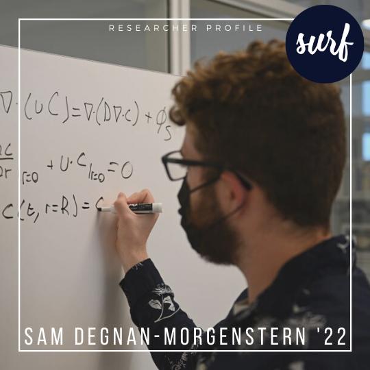 Profile of SURF Award recipient Sam Degnan-Morgenstern '22 (ENG)